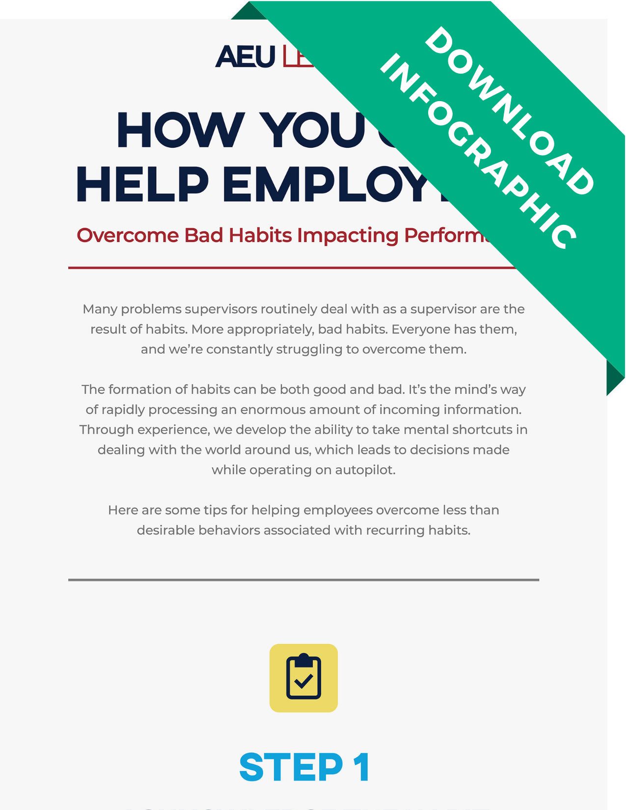 Download Infographic - Helping Employees With Bad Habits